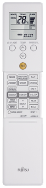 Fujitsu remote inverter reverse cycle air conditioning unit