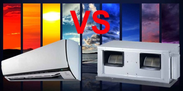splits system versus ducted air conditioning